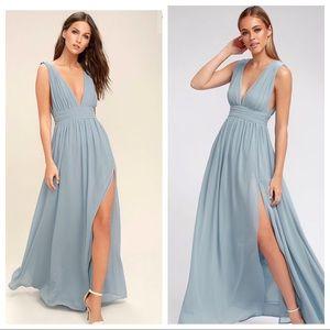 Lulus heavenly hues light blue maxi dress size med